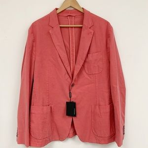 Bugatchi lyocell cotton peach two button blazer XL